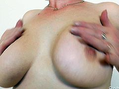 Bosomy mature slut likes solo masturbation. She goes wild in front of the cam with her favorite dildo fellow. Enjoy kinky mature Czech hoochie for free.
