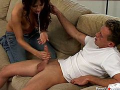 Two playful mind taking lesbians hook up with a 2 voracious dudes. They give their stiff cocks blowjobs in turns before they proceed to tongue fucking their delicious cunts in peppering groups sex video by Pornstar.
