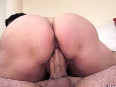 Well, this short haired brunette, who's a professional old slut loves riding a dick for orgasm. Spoiled old cowgirl with pale ugly tits is also a great pro in giving a solid blowjob for sperm. So press play and be impressed with this bitch in 21 Sextury xxx clip.
