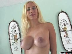 Buxom blonde whore Trina Michaels is very impressed by the size of her lover's dick. Once she sees how big it is, bodacious nympho starts sucking his cock right away. Check out this breathtaking interracial sex scene now and get ready to cum!