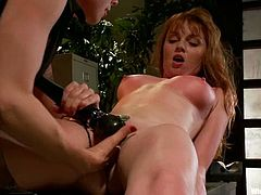 Lorelei Lee, is having fun with Marie McCray. She binds Marie, tortures her mercilessly and then toys her vag to orgasm with a strapon.