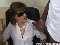 Black cock loving milf Lady Sonia blowjob and cumshot