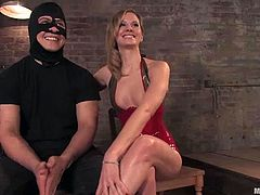 Apart from all the cock torture Maitresse Madeline is giving to this guy, there's also spanking, face sitting and more humiliating things.