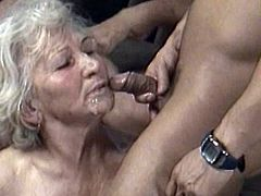 Slutty grannies love to play dirty during hot group sex hardcore scene