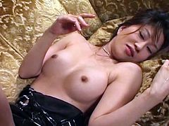 Wanton Japanese harlow Remi Matsukawa gets her ruined pussy dildo fucked