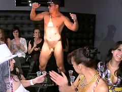 Wild blowjobs with a hunky stripper