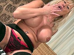 She's busty, horny and very experienced! Meet blonde Manu and what she does to herself. The sexy mature unleashes herself and rubs her pussy & boobs frenetically. Yeah she's turn on alright and all that this whore needs is a big hard cock in her cunt and perhaps between those huge breasts