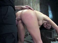 Her tight pussy is always in demand of a cock. THis time Marie gets it through some pain and she liked it. Watch this bdsm and you will never regret!