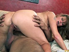 Busty mature feels amazing having her warm twat nailed hard by along cock