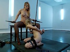 The naughty blonde Lea Lexis is going to have fun dominating the cute blonde Penny Pax in this lesbian femdom video.