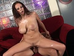 Gianna Michaels is always hungry for huge dicks. She is an awesome pornstar with delicious forms and big tits and right now she is going to make wet by her hardcore talent