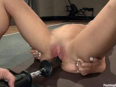 She loves being drilled by a powerful fucking machine! It makes her feel so fucking hot and high! This girl is fucking naughty and damn precious!