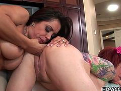 Francesca Le and Kylie Ireland are hot bitches,These whores are incredibly passionate and dirty. They goes wild fucking and drills each other's cunt with a huge dildo.Enjoy!