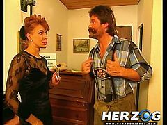 Horny Bavarian doctor from the 80s gets down and dirty in this video where he gets his cock sucked and his asshole fingered.