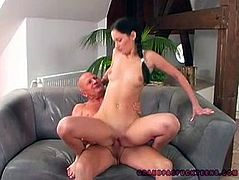 Teeny brunette is a futuristic lover. Don't you capeesh? Then have a look at her in 21 Sextury xxx clip. Spoiled black haired gal with sweet pale tits gives a blowjob and gets repaid with a pussy eating. Then slender pale and booty chick starts riding the old man's dick passionately for multiple orgasm. Gosh, you just need to see this nympho with your own eyes!