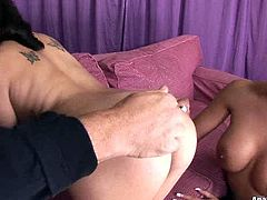 Two kinky lesbians spiced up with appetizing asses and big tits rim each others ass holes. Watch exciting lesbian sex video right now.