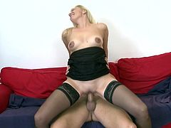 For Paula a hard cock is the best thing that can happen. She loves a big piece of meat and has no inhibitions in getting her mouth or pussy filed with it. This younger dude is happy to satisfy an experienced lady like her and serves her his dick. At first Paula gets her pussy stretched and then she uses her mouth