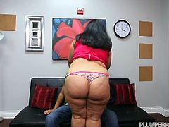 Check out sexy latino BBW Karla Lane getting involved into some hardcore pumping with her driving instructor. She takes his cock like a champ!