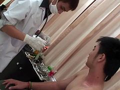 Kow goes to the doctor for a normal checkup. The doctor examines him carefully, checking everything.
