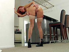 Hot ass milf Veronica Avluv shows it all and sucks