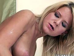 Wondrous blond haired dyke BIANKA loves getting pussy fisted tough