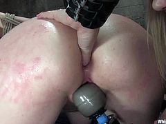 Natalie puts a spider gag in Maitresse's mouth