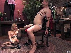 Humiliation and Spanking by Aiden Starr in Femdom Video