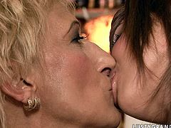 My fantasy comes to life as two spoiled lesbians of different ages get together to lick each other's delicious snatches in this passionate lesbian sex scene.