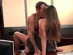 Blonde goddess gets her tight vag nailed hard in pure hardcore scene