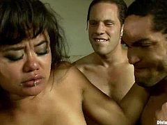 The naughty Annie Cruz is going to strapon fuck a dude's ass and then feature in a gangbang with other fellas who fuck her and cum on his face.