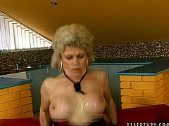 If you're a fan of mature whorish bitches, then this 21 Sextury xxx clip is surely for you. Booty and busty blond old and fat whore sucks and then rides a strong dick passionately, that even the small couch is ready to smash under her huge body.