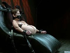 Busty blonde Felony lets two dominant milfs put her into irons. The women beat Felony's ass with a stick and then plays with the slut's awesome juicy holes.