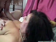 Goldie and Djamila are a couple of horny lesbian grannies that can't keep their hands off of each other as they masturbate, uses dildos and a strapon to give each other some pleasure.