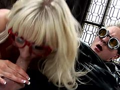Slutty Rebecca More feels amazing while having her tight holes drilled nasty in RPG show