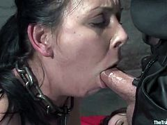 Two horny bitches are being punished by this sadist