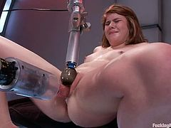 This playful and sizzling honey Ruby Song is so fucking lusty! She gets naked and sits on a fucking machine! It makes her stun so fucking loud!