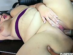 Nasty fatty Emma Bailey rides hard monster black cock down her greasy pussy. She has no problem being obese for her desires are as big as her body. She will make you want to enjoy her in this naughty video.