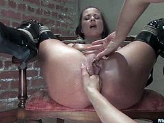 This one is a very hot BDSM session with two lesbian lovers who wanted to push the boundaries of their love with wicked torture and bondage fun.