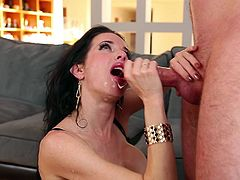 Her name is Veronica Avluv and Vicki loves it big! Babe grabs this dude's cock with her hands and he has no power to reject her mouth!