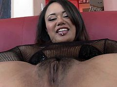 Lewd Asian bitch Annie Cruz pleases a black stud with a passionate blowjob. Then she takes his massive black sausage in her fucked up ass and they have anal sex in the reverse cowgirl position.