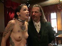 Krysta Kaos and Odile get tied up and mouth-fucked in public
