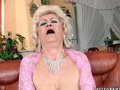 Flamboyant ardent blond mature gives a steamy blowjob to young rapacious fucker before she rides him in reverse cowgirl style in steamy sex video by 21 Sextury.