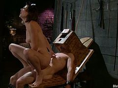 The guy with the box on his head is going to be ball tortured, cock ridden and spanked, strapon fucked and utterly dominated by Bobbi Starr.