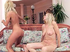 Are you a fan of sexy and hot blond lesbos? Then you're welcome to gain delight along with 21 Sextury xxx clip. Dirty-minded booty blond lesbians get busy with licking and spooning each other's soaking pussies till they reach orgasm.