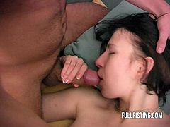 NOTE Reduced video quality and length.Her pussy looks so soft! I love the way she fists herself while sucking cock! How many of you practise fisting on a regular basics? And how many of you still waiting to try it?PRAISE ODIN!