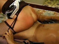 Latina maid levon gets pussy whacked