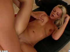 Bree Olson is a nasty college blonde ready to give her man a hell of a blowjob while flaunting her big round tits. Then he takes his time drilling her sweet pussy into a spectacular orgasm.
