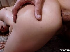 Slutty milf Irina Bruni is playing dirty games with some dude indoors. She licks his dick passionately and then they have anal sex in the reverse cowgirl, missionary and other positions.