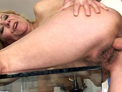 Dude, you'd better have a look at this super hot 21 Sextury xxx clip. Kinky blond haired old slut sucks a dick and gets her wet mature cunt fucked from behind then. Damn, this booty slut with wrinkled body is surely a great pro in teasing dicks...