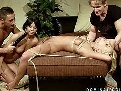 These lustful bitches are fond of hardcore sex games. So they enjoy filthy porn scene with restraint and sexual tortures elements. Check out this steamy BDSM porn clip produced by 21 Sextury.
